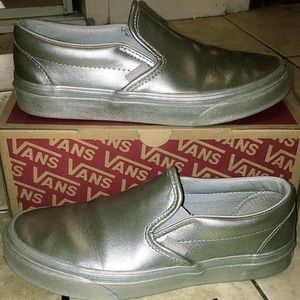 ONE OF A KIND CHROME VANS SLIP ONS